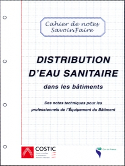DISTRIBUTION D'EAU SANITAIRE DANS LES BÂTIMENTS