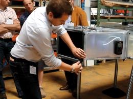 Astuce : pose de joints sur un conduit de ventilation rectangulaire