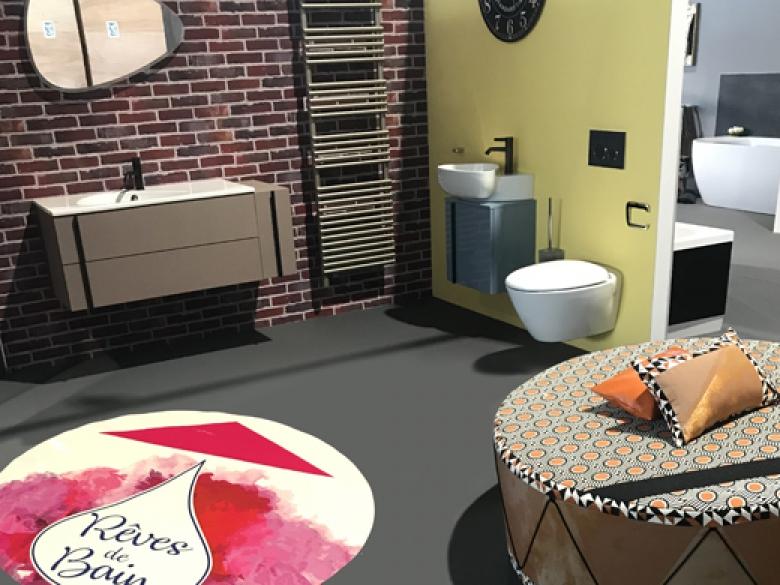 Quinze mises en scène contemporaines illustrent les tendances déco du moment, combinant douches à l'italienne, baignoires balnéo ou encore meubles aux lignes épurées.