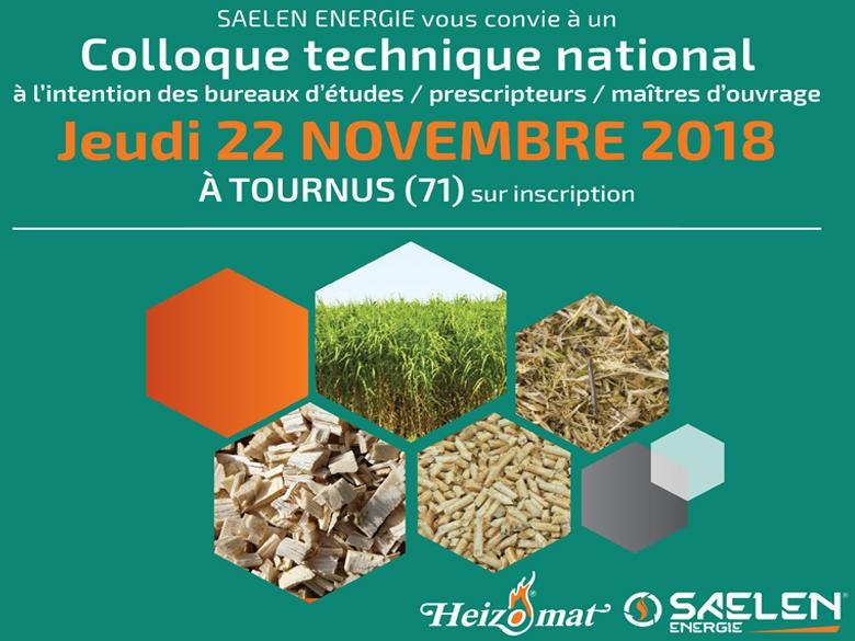 Saelen Energie, fournisseur des solutions Heizomat pour le bois-énergie, organise un Colloque national le 22 novembre prochain à Tournus (Saône-et-Loire).