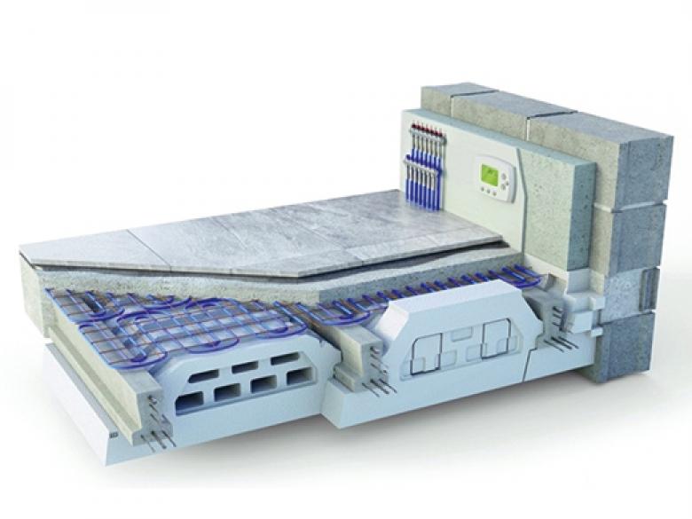 Plancher chauffant avec tubes opacifiés