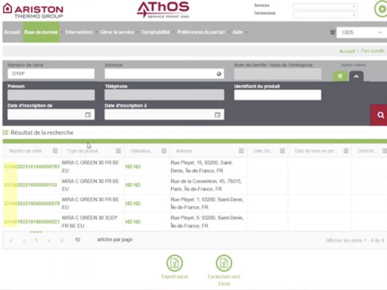 Réaliser facilement les démarches liées à la garantie des produits Chaffoteaux : tel est l'objectif du portail web AThOS.