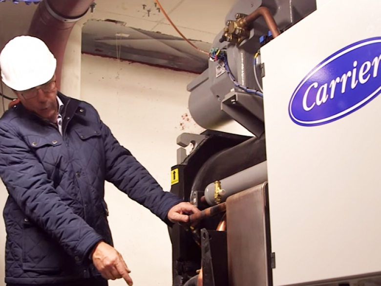 Une des premières installations du nouveau groupe d'eau glacée Aquaforce Puretec de Carrier a été de climatiser un data center en Suisse.